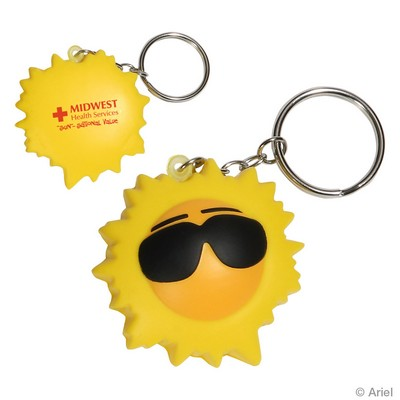 Cool Sun Stress Reliever Key Chain